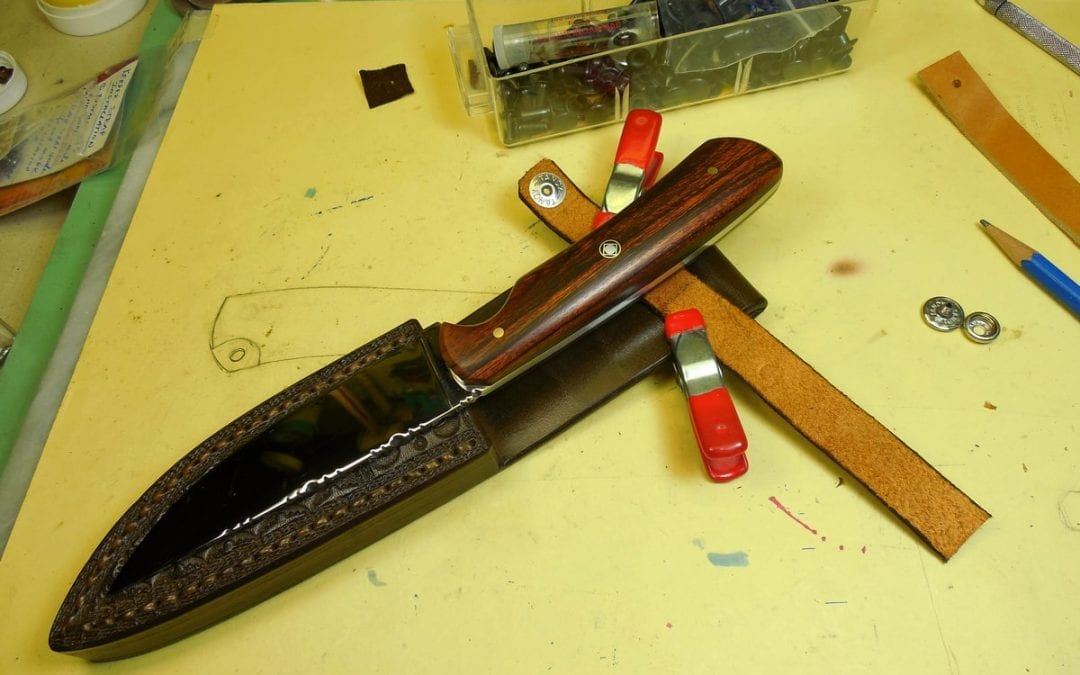 Finishing Up the Custom Sheath for W22