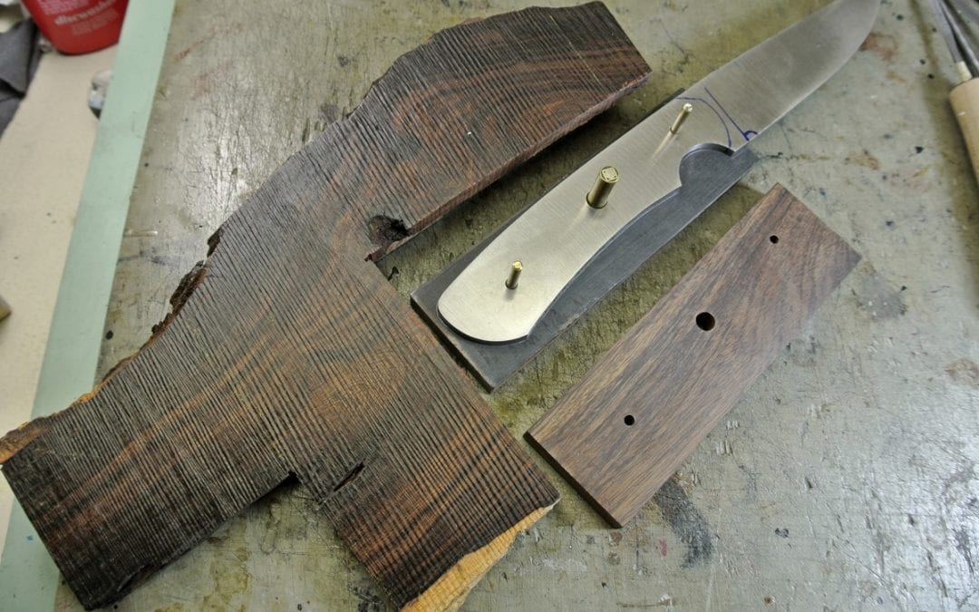 Starting a Desert Ironwood Hunting Knife