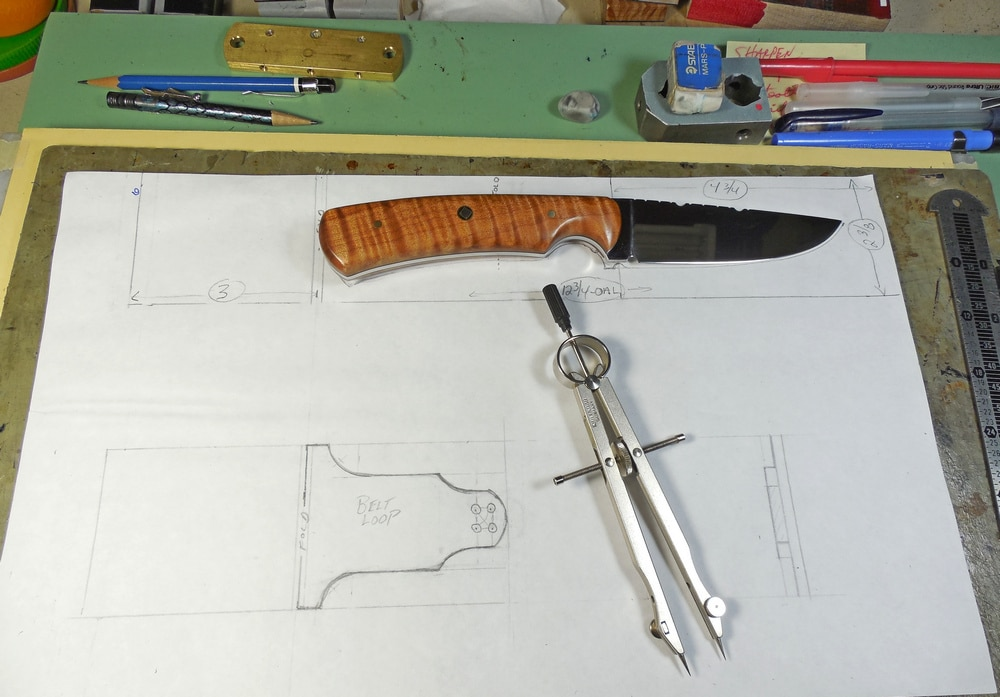 Drawing plans for custom sheath
