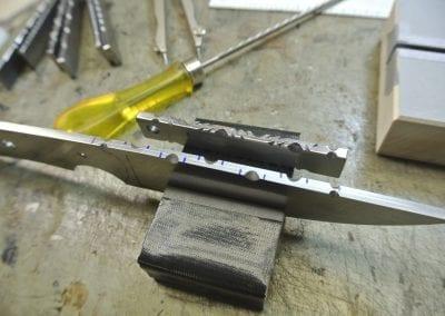 Filework on Knife spine