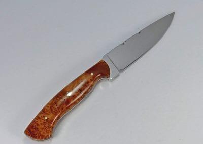 6 Burled maple hunting knife