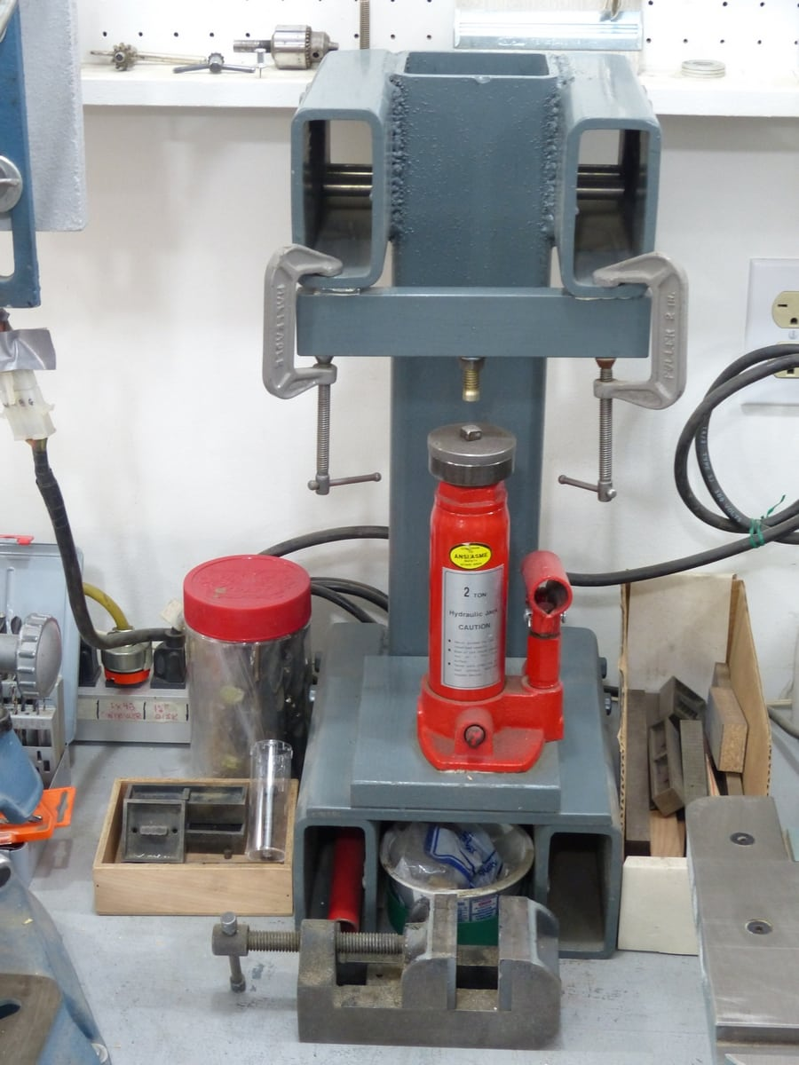 15 2-ton hydraulic pin press