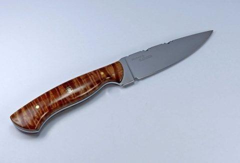 Tiger Stripe Maple Hunting Knife