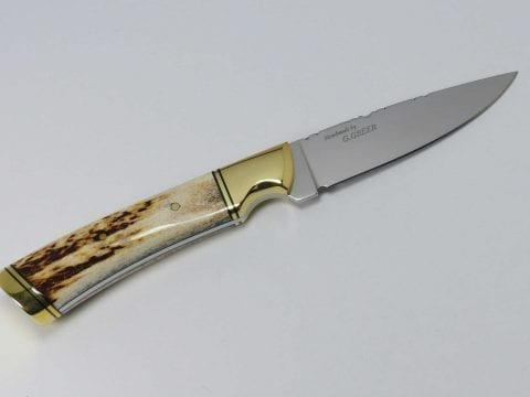 Saskatchewan elk horn hunting knife