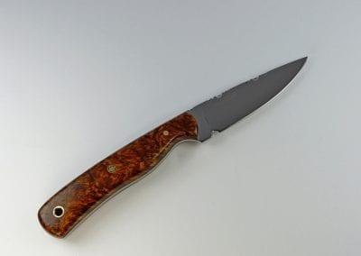 E8 Burled elm everyday carry knife