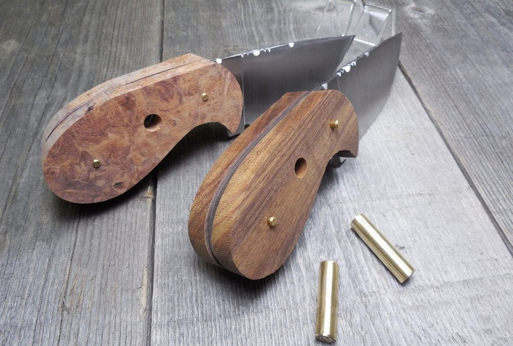 Couple of Palm Skinner Hunting Knives on the Bench
